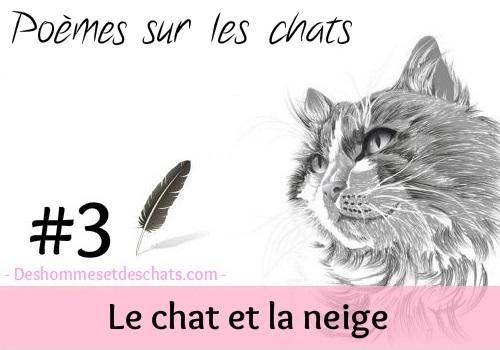 Maurice Carême Le Chat Et La Neige Poeme Sur Les Animaux