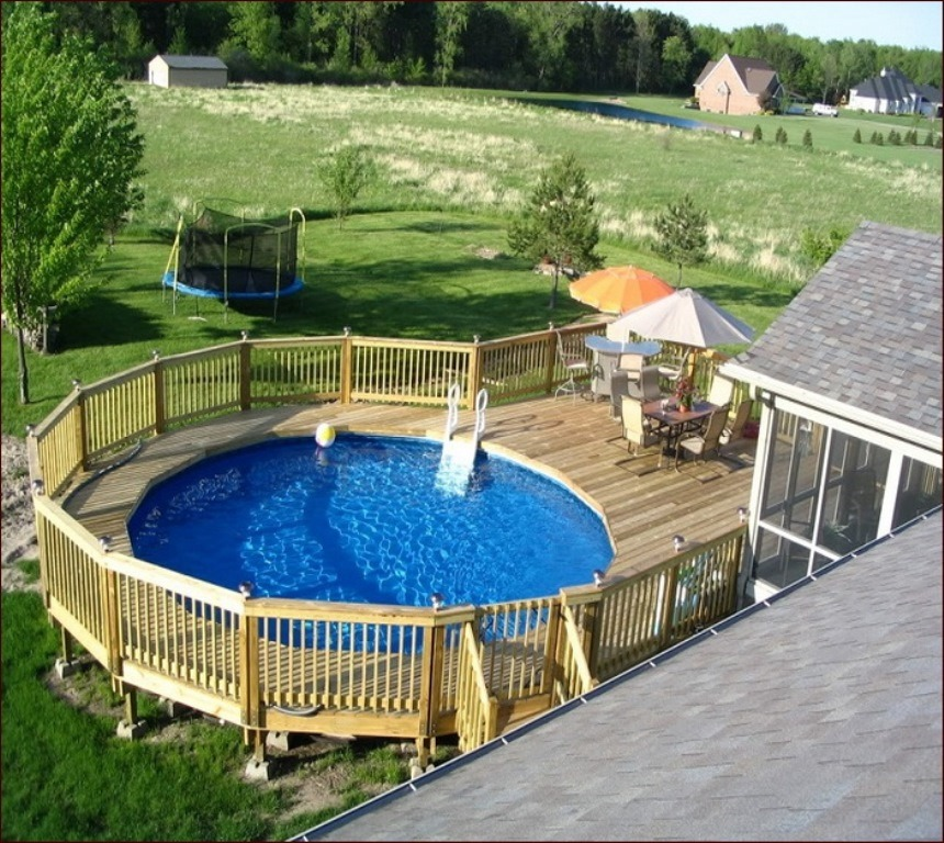 Above Ground Pool Landscaping Ideas - Deshouse on Backyard Pool Landscape Designs id=63290