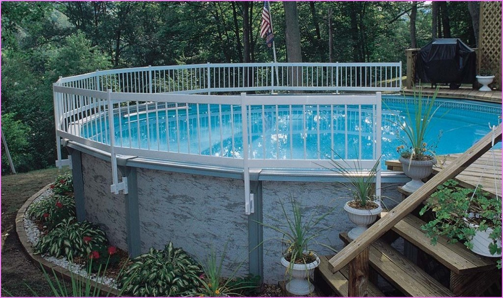 Above Ground Pool Landscaping Ideas Deshouse