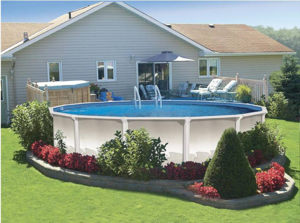 Above Ground Pool Landscaping Ideas - Deshouse on Backyard Pool And Landscaping Ideas id=13649