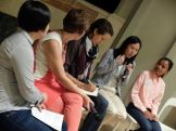 Afternoon panel discussion with (from the left) Joyce, Carol, Vicki, Fern and Pichapon