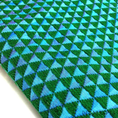 Hand embroidered Sea Green Phulkari on Pure Silk Fabric