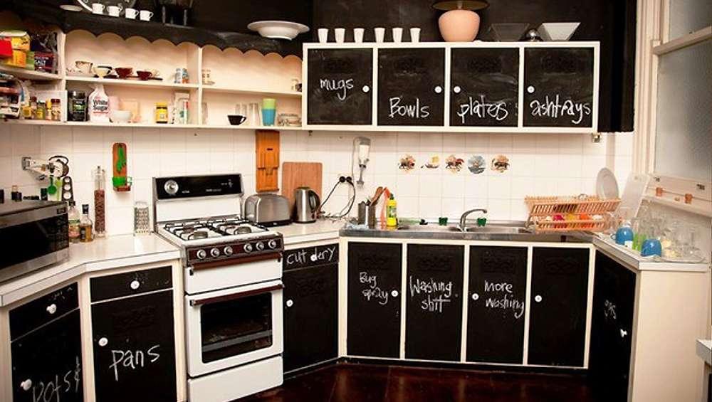 ardoise dans votre cuisine