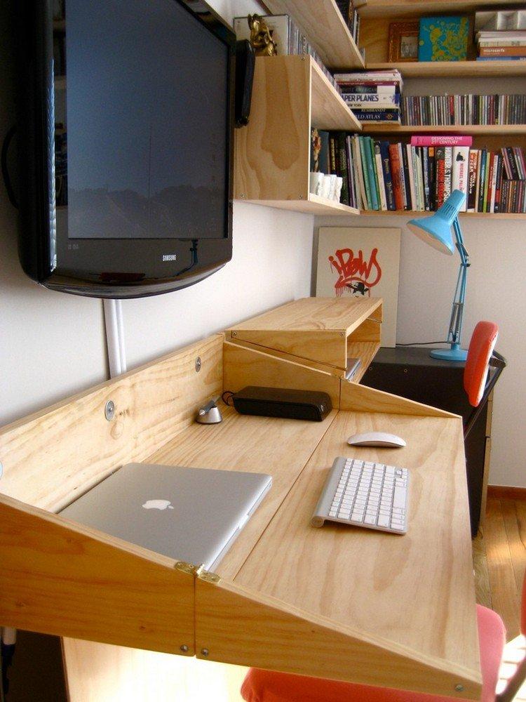 26 idées de bureaux suspendus, le meuble très pratique ... on Remodel:ll6Wzx8Nqba= Small Kitchen Ideas  id=57756