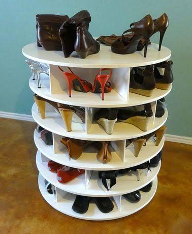 meuble a chaussures tournant