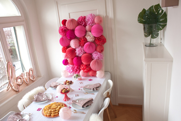 paper lanterns wall for valentine s decor