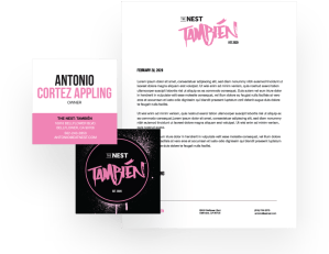 Tambien Branding Package with letterhead and business card