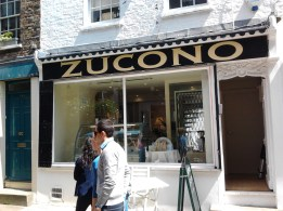 Aged and finished Zucono sign NGS