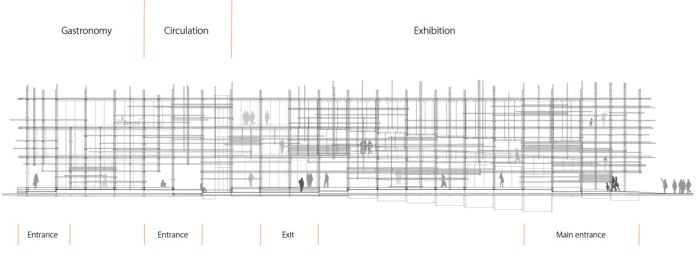 """Austria. Naturally Yours"" - Penda's Austrian Pavilion for the 2015 Milan Expo - Elevation"