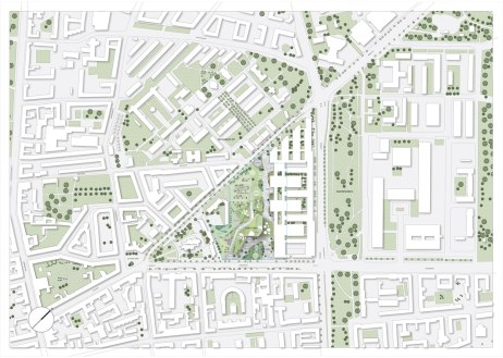 Maersk Building for University of Copenhagen by C.F. Møller - siteplan