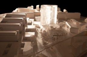 Maersk Building for University of Copenhagen by C.F. Møller - model
