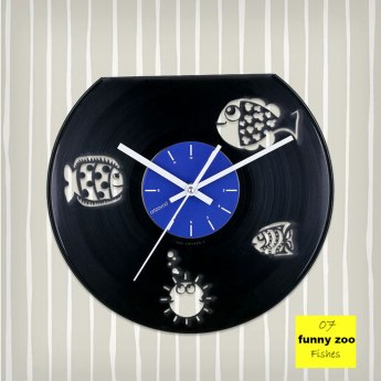 Funny Zoo Fishes Vinyl Clock by ArtZavold