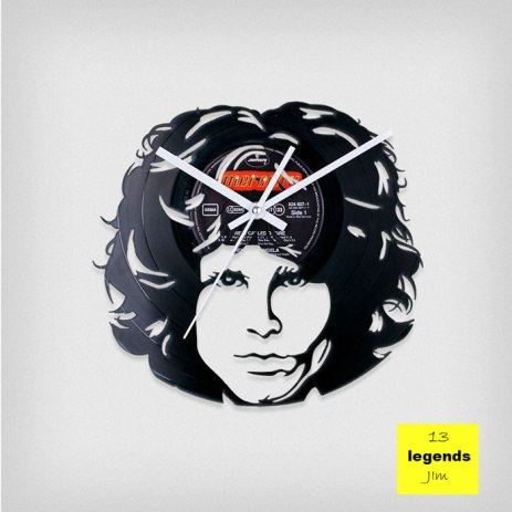 Legends Jim Morrison Vinyl Clock by ArtZavold