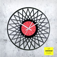 Minimal Angles Vinyl Clock by ArtZavold