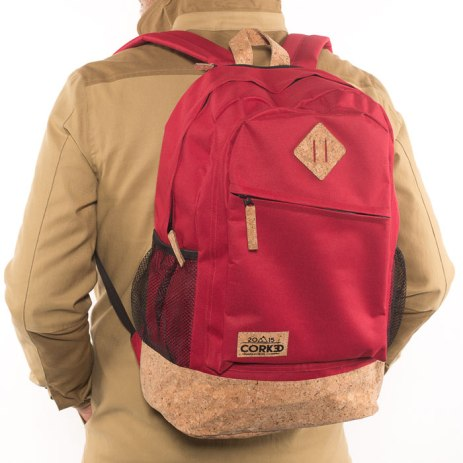 Corked Backpack in red
