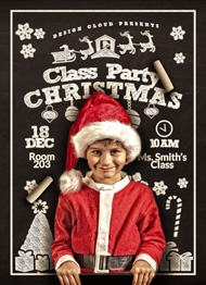 Christmas Class Party Flyer