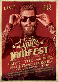 Hipster Jam Fest Flyer