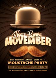 Movember Moustache Flyer