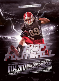 Playoff Football 5 Flyer