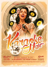 Retro Karaoke Flyer