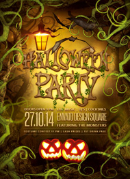 Spooky Forest Halloween Flyer