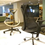 Herman Miller SAYL at Neocon 2011 designed by Yves Behar. The back rest Pro Engineer part utilizes more features than any other Pro Engineer part in history and rings in at twenty thousand Pro Engineer features