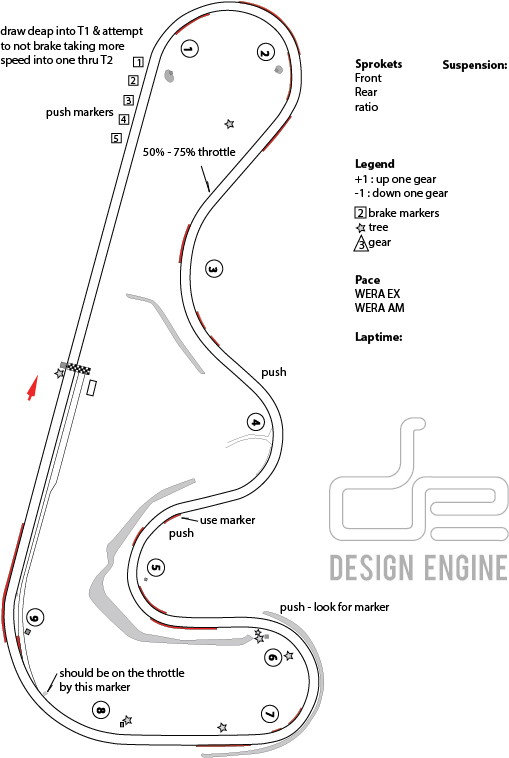 track map Roebling Road