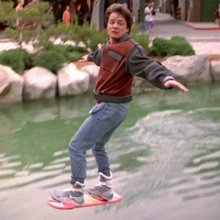 """In """"Back to the Future 2"""" Marty Mcfly flys with a hoverboard when they visit the year 2015. Coincidence?"""