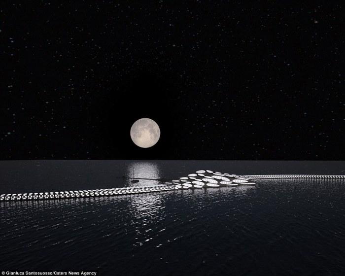 The MORPHtel at night. Image via DailyMail