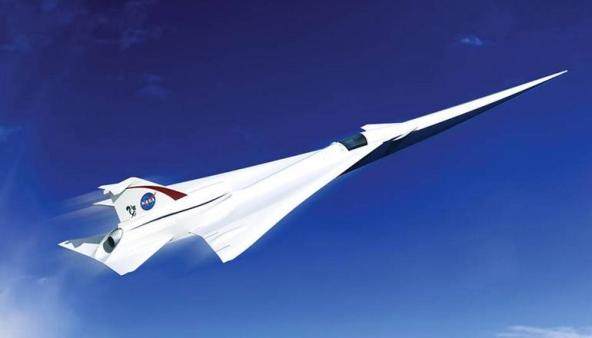 Artist's rendering of NASA's supersonic jet  Image via NASA
