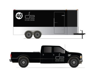 Truck and Trailer decal application design