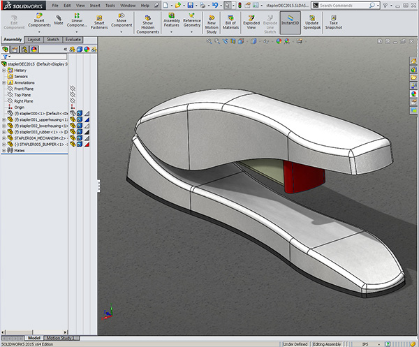 Solidworks top down design training class project