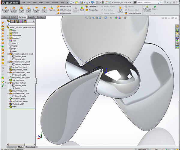 Solidworks Boat Propeller