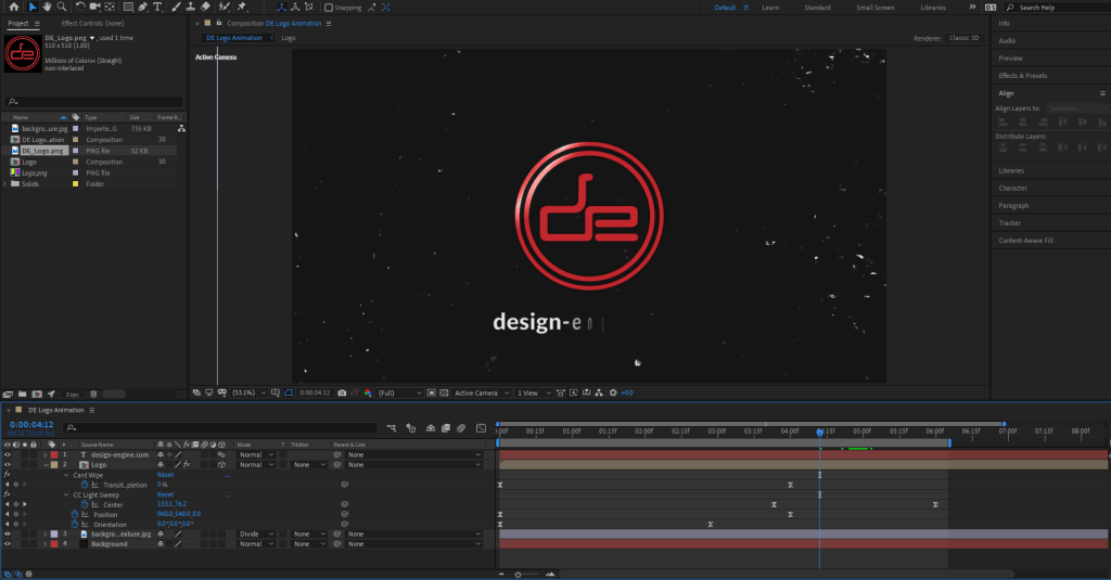 Design Engine Intro in After Effects