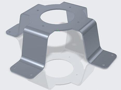 Creo 6.0 sheet metal wheel mount