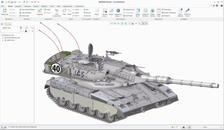 Creo Merkava Tank Assembly