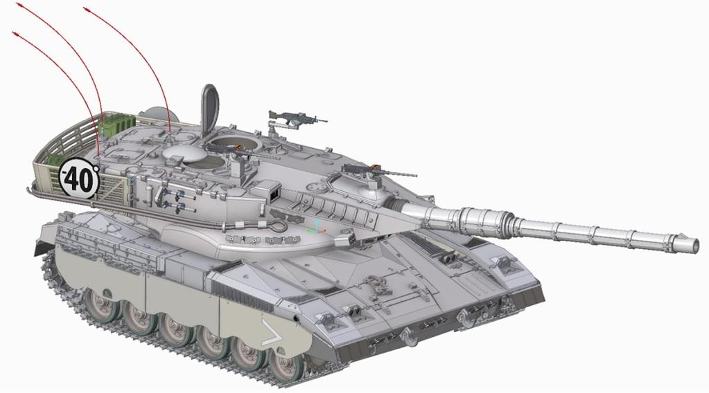 Merkava Tank made with the Creo design tool Creo Training