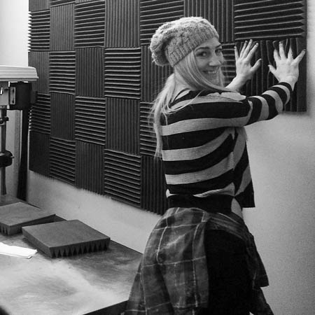 Sondra Ellingson sound proofing a room