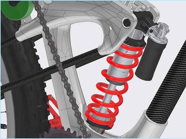 wenn cross country racing bicycle created using Sub'D & Creo 6.0