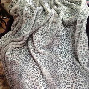 plaids Leopard des Neiges by nobles paris