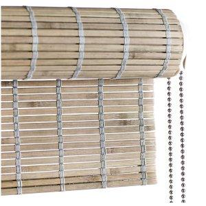 Gråt bejdset bambus rullegardin color co