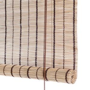 Color Co Brun stribet bambus rullegardin