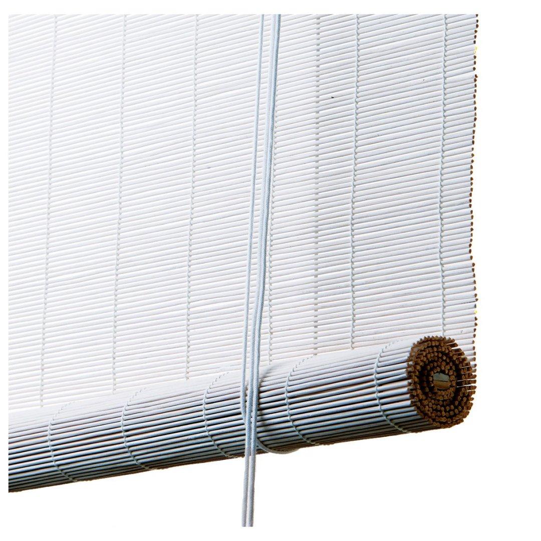 Hvidt bambus rullegardin color co 70010