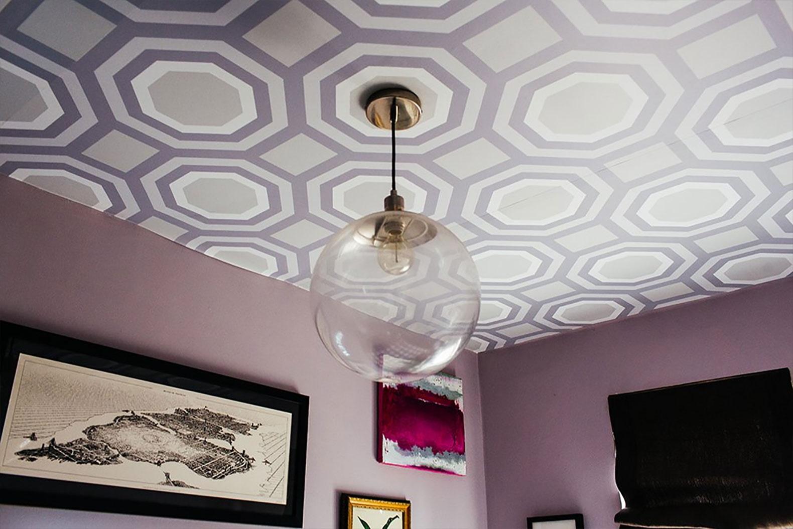 Papel de parede no teto