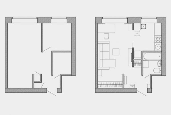 Перепланировка хрущевки: фото и схемы 1,2,3,4- комнатных