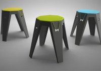 Marek Harmata – Toojo flexible stool furniture