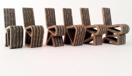 Série de chaises en Carton par Ja Szaman