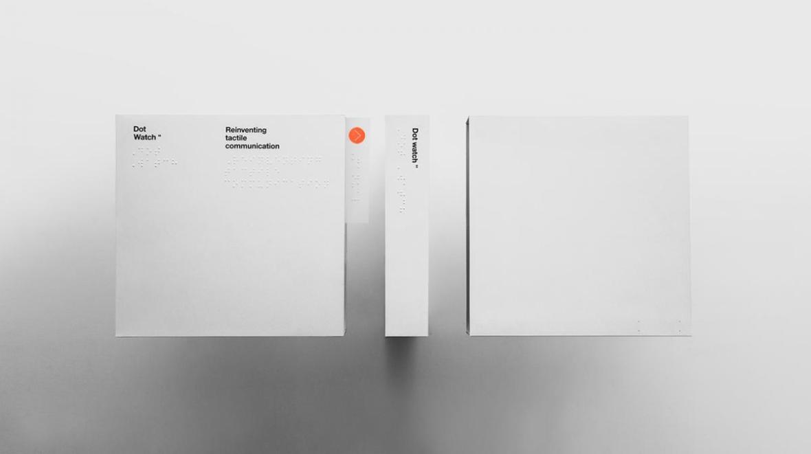 Packaging de la Smartwatch Braille