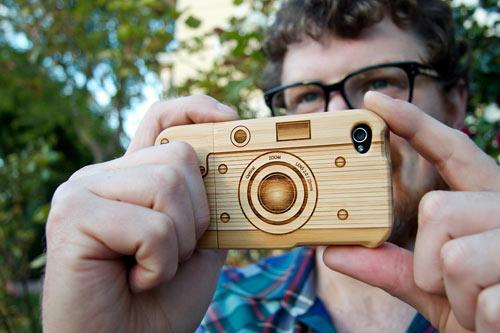 Wood Camera iPhone 4 Case