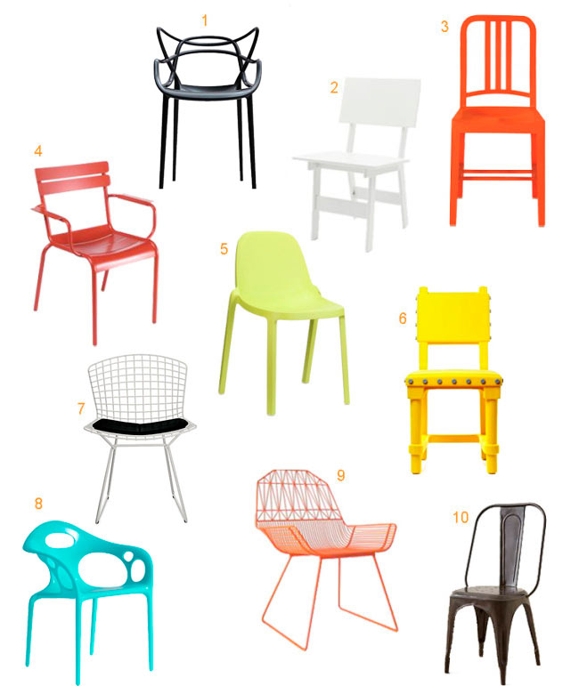 10 colorful modern outdoor dining chairs